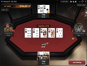 Breakout Poker All in or Fold Table